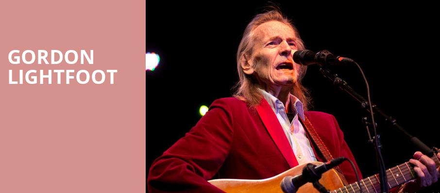Gordon Lightfoot, Hard Rock Rocksino Northfield Park, Akron
