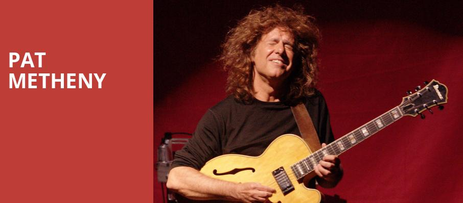 Pat Metheny, The Kent Stage, Akron