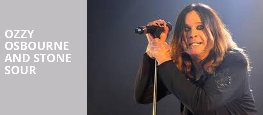 Ozzy Osbourne and Stone Sour, Blossom Music Center, Akron